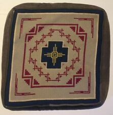 ARTS & CRAFTS Era Mission Stickley Geometric Needlepoint Throw Pillow Antique