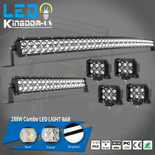 50inch LED Light Bar Curved 52''+22'' Combo +4'' Pods Offroad fit Dodge Ram 1500