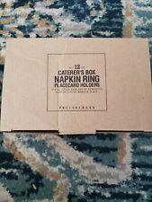 Pottery barn napkin rings set of 12