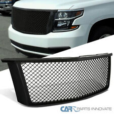 Chevy 15-18 Tahoe Suburban Mesh Style Glossy Black ABS Front Hood Grille Grill