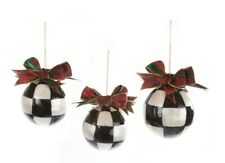 MacKenzie-Childs Jester Fancy Ornaments - Small - Set of 3
