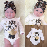 Newborn Baby Girls Infant Romper Jumpsuit Bodysuit Cotton Clothes Outfit 0-18M