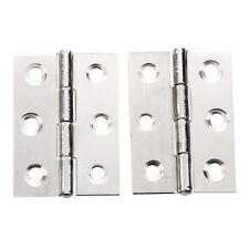 2pcs acero inoxidable 2 pulgadas 4.4x3.1cm Gabinete bisagras puerta HardwareK3K9
