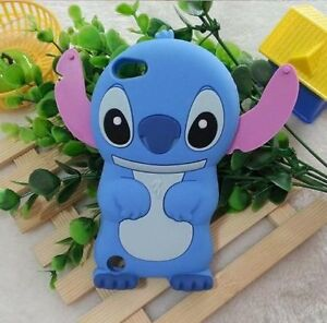 for iPod Touch 5th & 6th & 7th Gen - BLUE STITCH Soft Rubber Silicone Case Cover