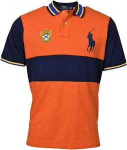 Polo Ralph Lauren Gold Metallic Big Pony Crest Logo Striped Solid Button Shirt