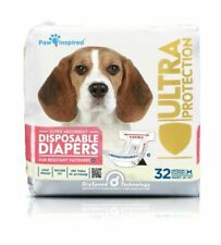 32ct Paw Inspired Ultra Protection Disposable Dog Diapers Female
