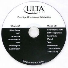 """ULTA BEAUTY """"PRESTIGE CONTINUING EDUCATION: WEEK 38 + 39"""" 2013 DISC ONLY >USED<"""