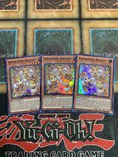 Yugioh Prank-Kids Rocksies SOFU-ENSE4 Super Rare Playset x3!