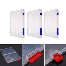 A4 Files Plastic Document Storage Box Clear Holder Paper Office School Organizer