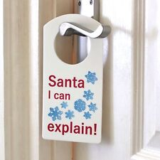 Babbo Natale posso spiegare STAFFA PORTA NOME PLACCA Ragazzo o Ragazza Camera da Letto ROOM SIGN