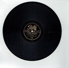 78T 25cm Rose AVRIL Disque Phonographe Chanté CHANSON D'ESPOIR - PATHE 2033 RARE
