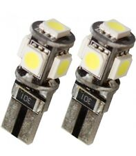 2 LAMPADE POSIZIONE CANBUS NO ERRORE 5 LED SMD 5050 T10 W5W LUCE BIANCA 6000K