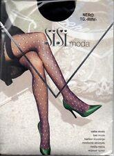 Calze donna autoreggenti a rete nere sexy Sisi - Black hold-ups net stockings