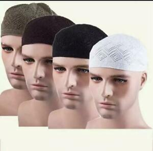 Men's boys Topi Islamic Cap Muslim Prayer Mens Hat Kufi Head Wear|Skull cap