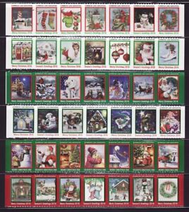 2016 U.S. National & Test Design Christmas Seal Collection, As Required