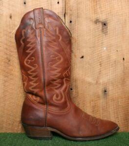 BOULET Brown Leather Western Cowboy Boots Men's Sz. 8E