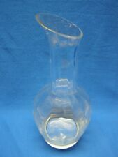 Vintage Wedgwood Devon Pattern Crystal Optic Panel Crystal Carafe Decanter