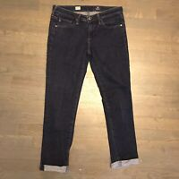 AG Adriano Goldschmied Protege ROLL-UP Straight Leg Stretch Denim Jeans Size 26R