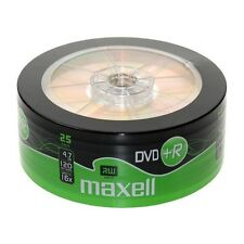 Maxell 25 Paquete de 16x velocidad 120 MINUTOS dvd + R Discos 4.7gb-275735