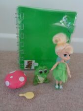 "Disney Store Animators Collection Disney Fairies Doll 5"" Tinkerbell Playset Case"