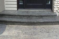 "Chiseled Slate Cantilever Ledge Concrete Stamp Step Insert - 8"""