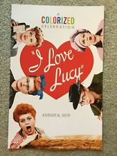 "AMC Theaters - 'I Love Lucy' - Colorized Celebration Poster - 11"" X 17"" - 2019"