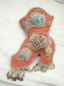 Antique Hand Beaded Pin Cushion Boot Heeled Shoe Sewing Notion
