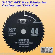 3-3/8-inch 10mm Arbor HSS Metal Circular Saw Blade fit Craftsman Trak Cut