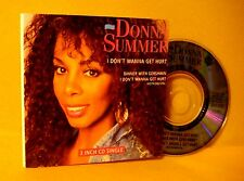 "Cardsleeve 3"" MINI CD Donna Summer I Don't Wanna Get Hurt 3TR 1989 Pop Disco"