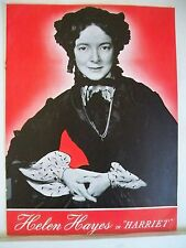 HARRIET Souvenir Program HELEN HAYES / HARRIET BEECHER STOWE NYC 1943