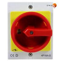 16A Hauptschalter Reparaturschalter 4 polig im Gehäuse Lasttrennschalter Not-Aus
