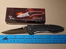 "Frost Cutlery Avenger Knife 15-825B 4 1/2"" Closed NIB"