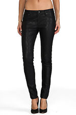 """NWT WOMEN'S D-ID """"NEW YORK"""" SKINNY JEANS COATED BLACK QUILTED #1000-4107 SZ:28"""