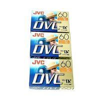 New listing Jvc Mini Dv Camcorder Tapes Dvc Mini Cassettes M-Dv60Du Lot of 3 Sealed New