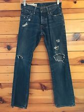 *ABERCROMBIE & FITCH* Boys REMSEN LOW RISE SLIM STRAIGHT Button-Fly Jeans 12