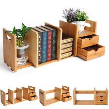Bambus Standregal Bücherregal Tischorganizer Schreibtisch 2 Schubladen RG9258br