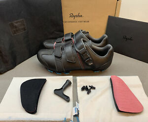 Rapha Cross Shoes in Black Blue Size 9.25 UK 44 EU Brand New Boxed