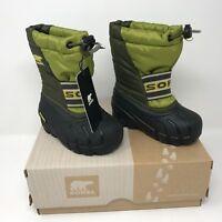 SOREL Toddler Cub Python Green Winter Snow Sports Boot (Size 5) Waterproof
