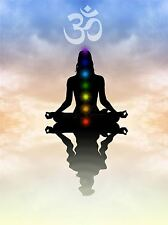 ART PRINT POSTER PAINTING DRAWING BUDDHIST LOTUS CHAKRAS PEACE SYMBOL LFMP0966