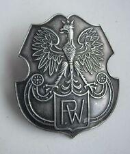 POLISH POLAND  before WWII MILITARY TRAINING EAGLE BADGE