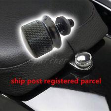 Black Billet Aluminum Knurled Seat Bolt for Harley Sportster Dyna Touring