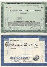 Set of 2 - Tobacco Stock Certificates