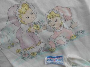 Vintage Fisher Price Puffalump Crib Sheet, Made in USA, Puffalump doll print