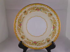 Vintage Salad Plate, Noritake China Mystery Pattern, Green Accent, Vase, Floral