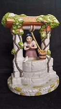 By Disney Snow White well Porcelain Figurine Statue Musical Box I'm Wishing