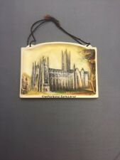 Canterbury Cathedral 4½x3¼  Arthur Osborne Ivorex Wall Plaque