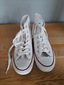 LADIES WHITE CONVERSE ALL STAR BOOTS SIZE UK 4