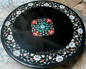 24 x 24 Inches Marble Coffee Table Top Pietra Dura Art Center Table Royal Look