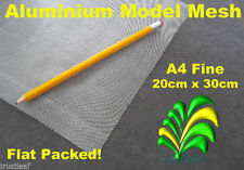 A4 Sheet of Fine Aluminium Wire Mesh - Flat Packed 20 x 30 cm