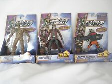 "3x Marvel GUARDIANS OF THE GALAXY Squeeze legs 4""- 6"" ACTION FIGURE SET"